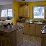 Vista de dentro da cozinha